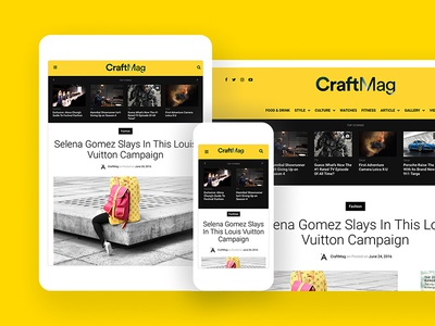 CraftMag — A Responsive Magazine/News Theme ux ui wordpress woothemes theme magazine news minimal responsive clean