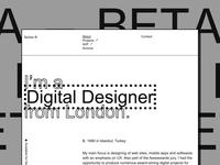 Personal portfolio —BETA