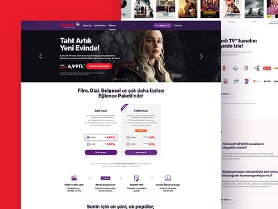DigiturkPlay — Product Pages productpage product website new design web site typography concept web minimal clean ux ui