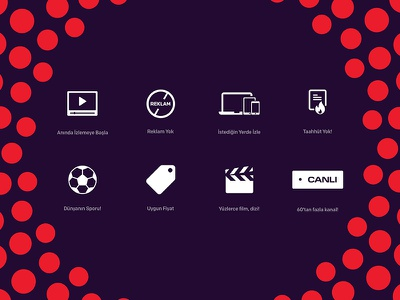 DigiturkPlay — Icons icon set vector minimal illustration clean ux ui