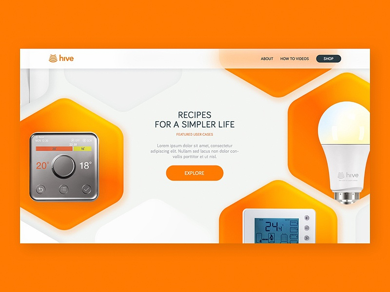 Hive — Actions product new productpage flat design web site interaction home page concept web minimal clean ux ui