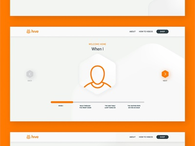 Hive — Actions visual design simple product productpage new website design web site interaction concept web minimal clean ux ui