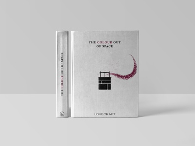 The Colour Out of Space halftone vector typography illustration lovecraft logo branding minimalist cover design cover art book cover design book cover art book cover book