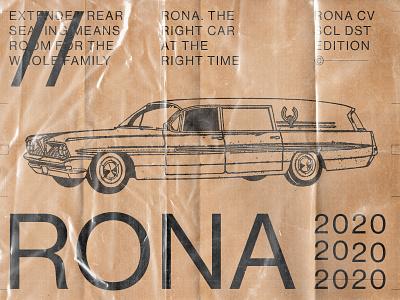 Corona Virus Car Ad 1/3 vector logo branding illustration design print ad car typographic vintage typography design typography art typography swiss design swiss style graphic design
