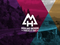 Highland Brewing Logo Redesign