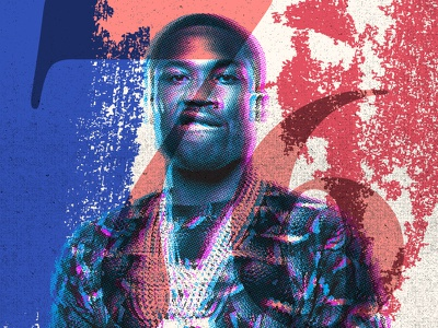 State of the Uniom 4/25 graphics rap music layers texture branding meek mill halftone illustration design