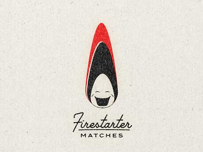 Firestarter Matches vintage experiment branding logo design matchbook