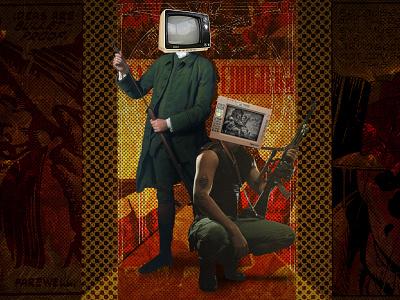 Ragnarok society vector typography ragnarok mythology norse illustration storytelling metaphor halftone design