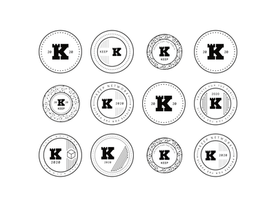Exploration of Keep Badge Patterns badge brand token branding crypto finance stake build keep icon exploration process flow token coin pattern