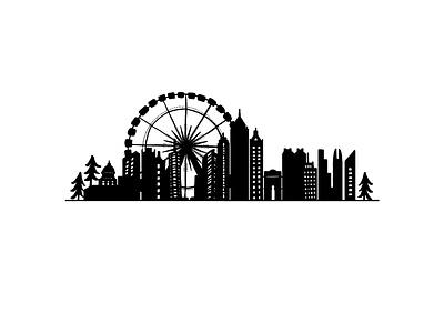 Atlanta Skyline design illustration drawing christmas vector illustration vector skyline atlanta