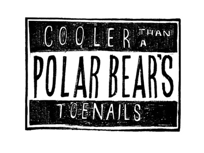 The Cool Factor outkast lettering lyrics hand drawn typography design