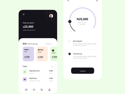 Money management App ux illustration ui design