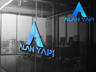 Alan Yapı - Logo Mockup flat typography graphic design icon art app vector design logo branding
