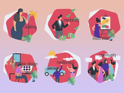Highlight  İcon design icon animation illustration illustrator graphic design art app vector branding