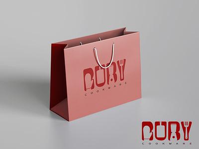 RUBY - Cookware   Shopping Bag Mockup icon graphic design illustrator typography illustration logo app vector design branding
