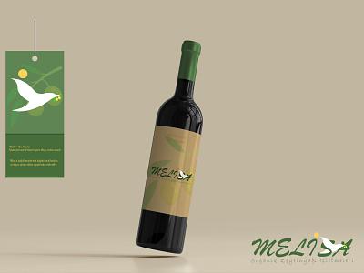 Melisa - Organic Olive Oil illustration illustrator typography art logo graphic design branding app vector design