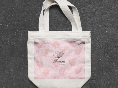 La Mosa Bag typography flat icon art branding logo graphic design app vector design