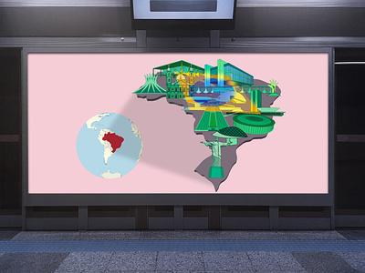 Brazil landmark graphic building illustrator graphicdesign landmark vector illustration design