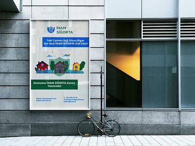 İnam Siğorta | Poster illustration illustrator insuranceposter insurancelogo post poster branding brand logo graphicdesign graphic design