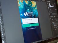 Mobile Login Screen WIP
