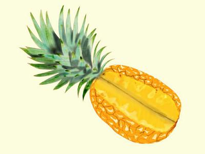 Day 2 - Fruit digitalart photoshop wacom