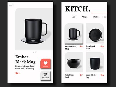 Kitch App Design mobile app design mobile design mobile app mobile ui app design userinterfacedesign uiuxdesigner uiux design uiux userexperience application appdesign userinterface
