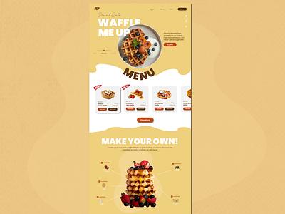 Waffle Me Up! userinterfacedesign userexperience userinterface uiuxdesign application appdesign website websitedesign webdesign uiux ux ui