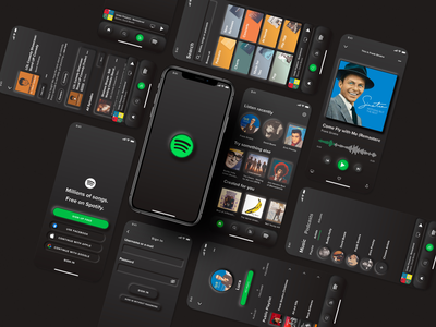 All Screens - Spotify Neumorphism UI Redesign neumorphic design neumorphic uidesing uidesigns uidesgin redesign-tuesday uidesignchallenge ui design uidesignpatterns uidesigner spotify cover uiux redesign. redesigned redesign concept ui  ux uidesign redesign ui spotify