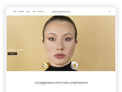 Homepage - Italian Jewelry Designer Project website builder websites website concept website design website ui  ux uiux uidesign ui design ui