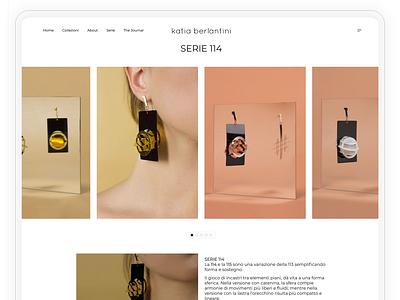 Single Collection Page - Italian Jewelry Designer Project webdesign web design web website builder websites website concept website design website ui  ux uiux uidesign ux ui design ui
