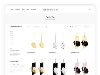 Shop Page - Italian Jewelry Designer Project webdesign web design web website builder websites website concept website design website ui  ux uiux ui design ui uidesign