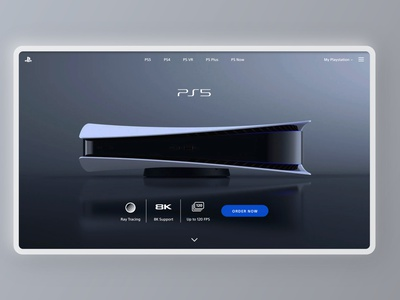 Landing Page Playstation.com - DailyUI #003 psd minimal brand uxdesign uxui ux adobexd ps ps5 redesign ui design ui  ux uidesign ui uiux daily 100 challenge dailyuichallenge daily ui dailyui daily