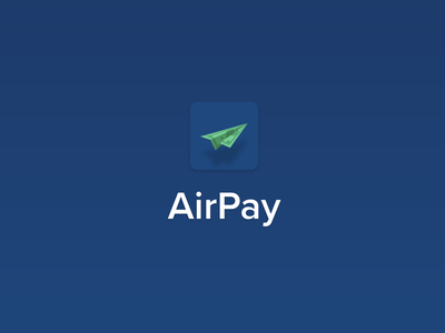 AirPay App Icon - DailyUI #005 uiux money transfer money app money application app design logos logodesign logotype logo design app logo app logo dailyui005 daily 100 challenge dailyuichallenge daily ui dailyui daily