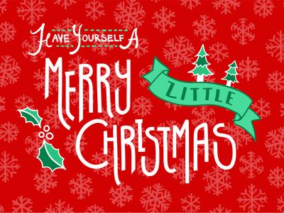 Merry Christmas! merry christmas holly snowflakes christmas
