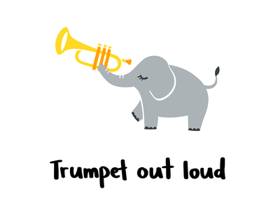 Trumpet out loud orchestra music elephant trumpet