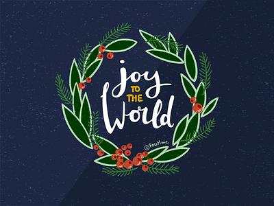 Merry Christmas! xmas leaves berries wreath christmas wreath joy christmas
