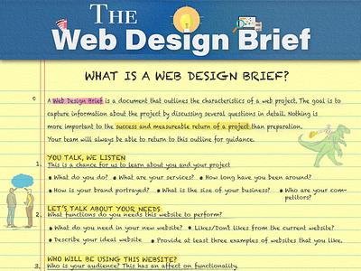 Web Design Brief Concept typography funny branding illustrator