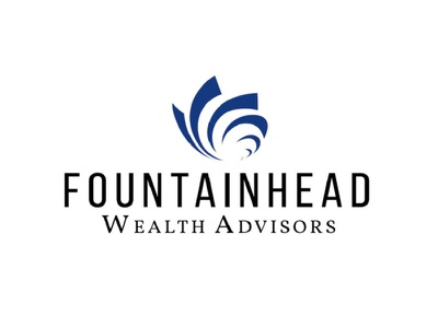 Fountainhead Wealth minimal design art vector typography logotype logo illustration illustrator branding