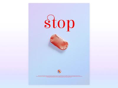 Stop logotype design typography