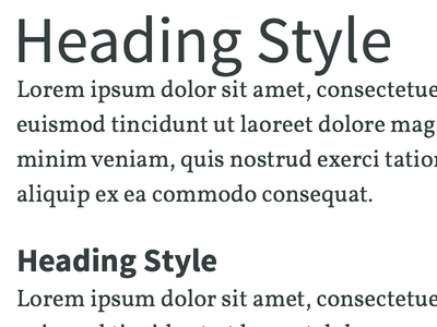 Type System Detail 1 type typography hierarchy source sans pro vollkorn