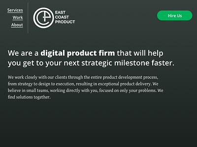 East Coast Product redesign - Header 1 navigation header