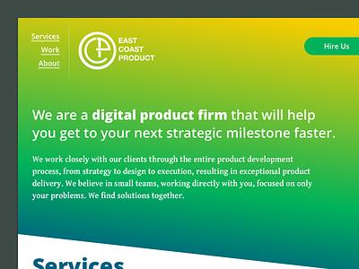 East Coast Product redesign - Header 2 navigation header