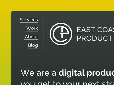 East Coast Product redesign - Header 3 navigation header