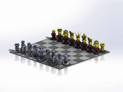 Chess board foryou chess game forniture solidworks design