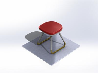 Small stool children food kids love house stool forniture illustration art 3d design