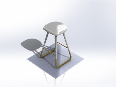 Backless Barstool table wood metal stool bar forniture foryou branding 3d 2020 design