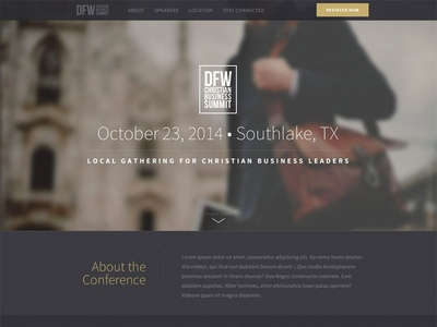 Conference One-page Website