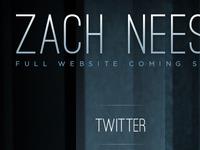 Zach Neese Splash Page