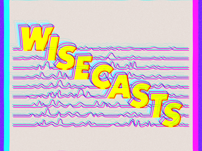 Wisecasts YT art typography design vector hand drawn illustration