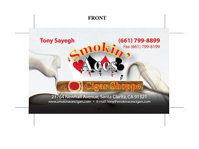 Smokin Aces BCs front logo illustration design branding